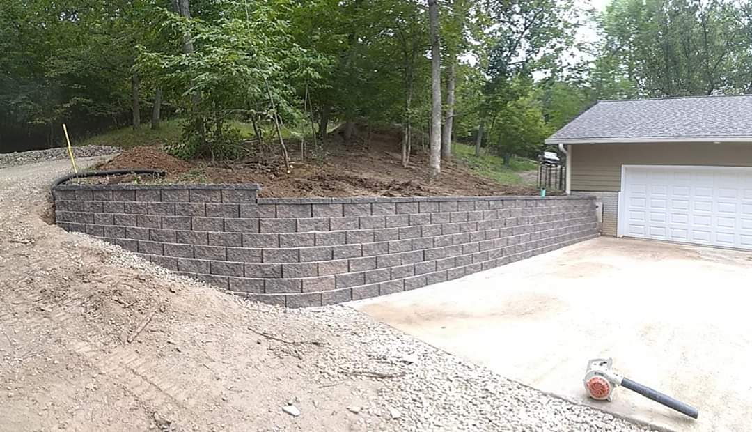 Garage Retaining Wall