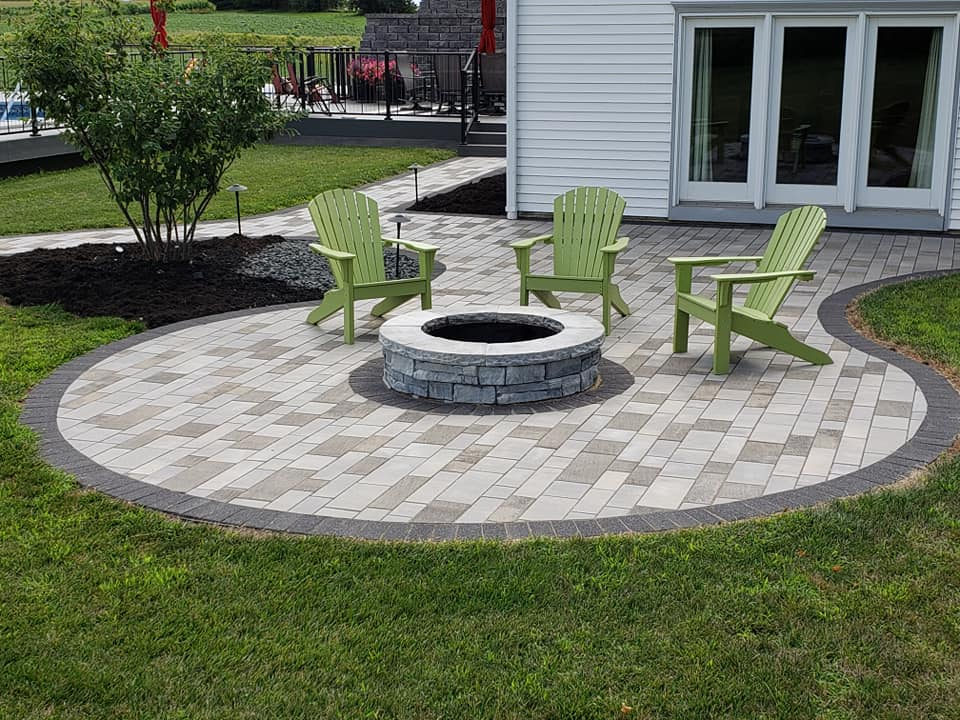 Fire Pit Lower Patio-Wernimont Residence