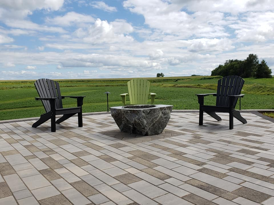 Fire Pit Upper Patio-Wernimont Residence
